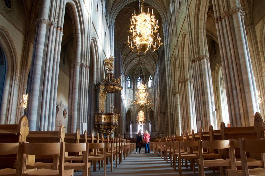 People And Places Uppsala Domkyrka Uppsala Sweden Architecture Cathedral Architectural Feature EyeEm Gallery EyeEmBestPics EyeEm Best Shots EyeEm Best Edits Eye4photography  Person People Place Of Worship Church