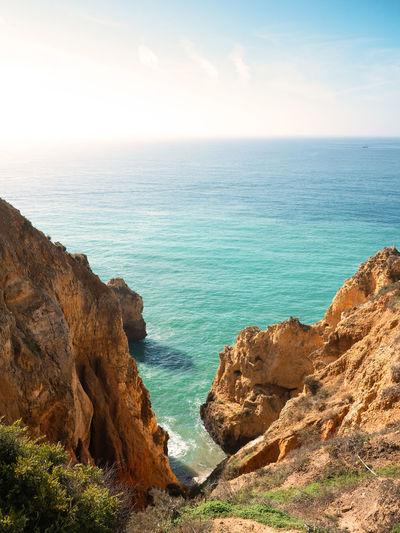 Cliffs in lagos. algarve, portugal.