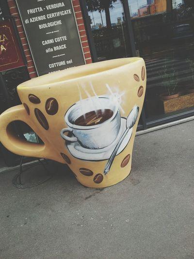 Big Cup Of Coffee Street Art Like Milan