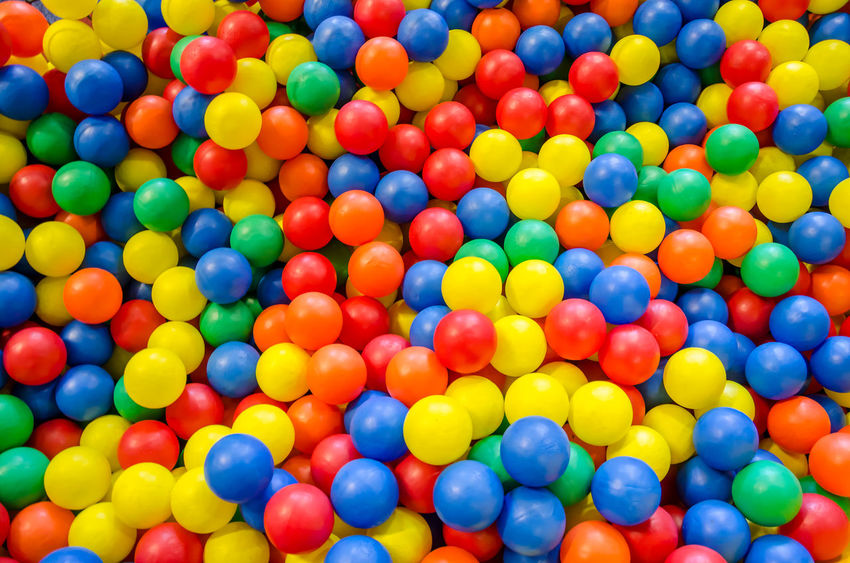 Coloured balls in a ball pit. Backgrounds Ballpit Blue Bubble Gum Celebration Close-up Coloured Colourful Colours Day Food Full Frame Indoors  Large Group Of Objects Multi Colored Multicoloured Multicolours No People Plant Sweet Food