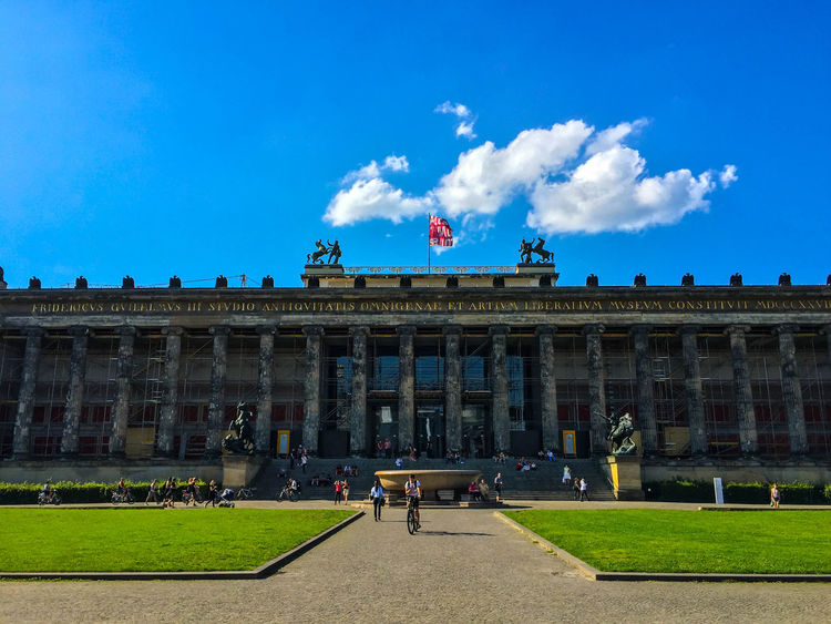 Axel & Boris Architecture Architecture_collection Berlin Berlin Mitte Berlin Museum Berlin Museuminsel Berlin Photography Berlin Sightseeing Berliner Ansichten Blue Sky Blue Sky And Clouds Built Structure Cloud Cloud - Sky Day Museum Island Outdoors Pergamonmuseum Sky