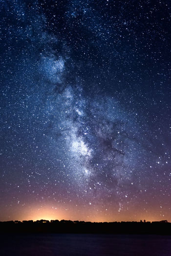 milky way over Alqueva Lake, Caminho, Portugal Portugal Alqueva Astronomy Beauty In Nature Constellation Darksky Galaxy Lake Landscape Milky Way Nature Night Outdoors Reguengosdemonsaraz Scenics Silhouette Sky Space Star - Space Star Field Tranquil Scene Tranquility