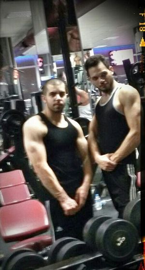 Hi! That's Me In The Gym With My Friend Train Hard