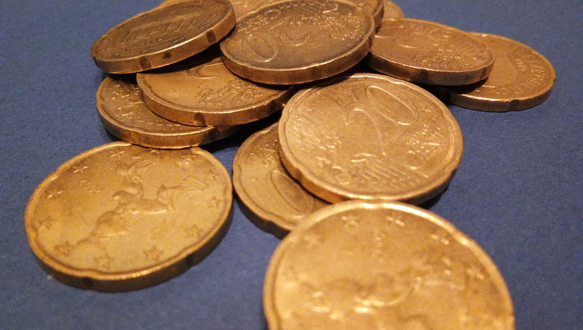 EyeEm Selects Euro coins. Euro money. Euro currency.Coins stacked on each other in different positions. Money concept. Coin No People Indoors  Close-up Day