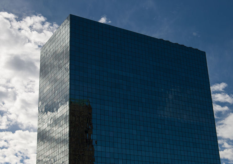 City Downtown Mirror Mirror Image Reflection St. Louis, MO Architecture Black Framed Windows Blue Blue Sky Building Exterior Built Structure City Clouds Day Glass Glass Building Low Angle View Mirror Reflection Modern No People Outdoors White Framed Windows White Outline Window