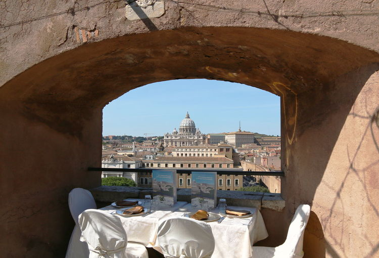 Arch Architecture Best Seat In The House Building Exterior Built Structure Castel Sant'Angelo Famous Place History International Landmark Italy Rome St Peters Square Through The Window Tourism Travel Travel Destinations Vacations Food Stories The Traveler - 2018 EyeEm Awards