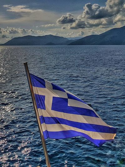 GREECE ♥♥ Proud To Be Greek Greek Flag Water Nature Sea Outdoors