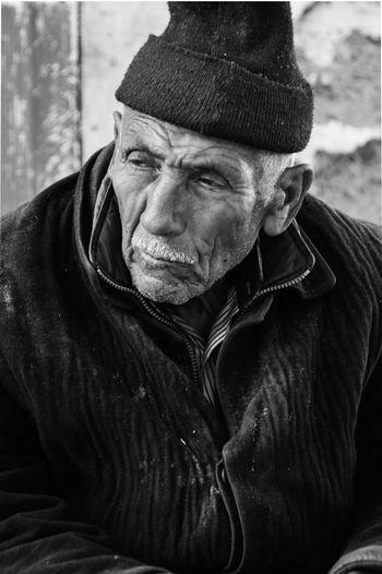 Portrait of man. life time