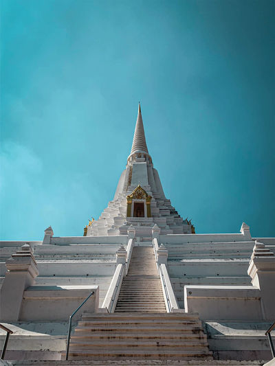Low angle view of a building,pagoda temple,thailand,thai temple