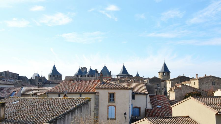 Roofs Roofs And Towers Historical Building Carcassonne Medieval Architecture MedievalTown Architecture Building Exterior Sky Cityscape Outdoors No People Built Structure Roof Travel Destinations Urban Skyline Day