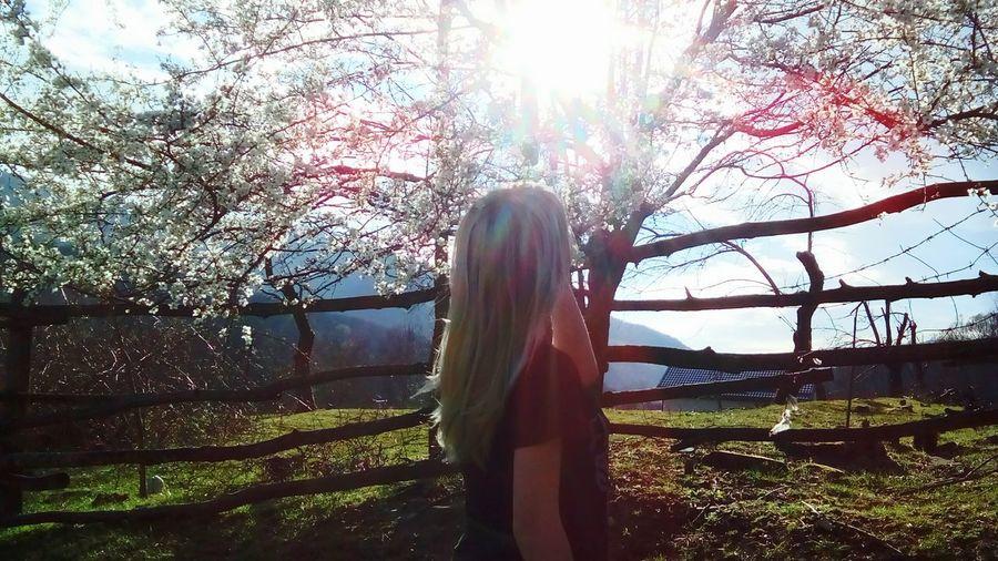девушка фото со спины волосы весна