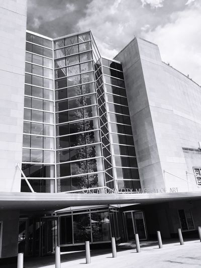 Museum Art Museum Of Art Building Exterior Downtown OKC Streetphotography Blown Glass Chihuly Chihuly Glass ChihulyExhibit Chihulyglass Oklahoma City Oklahoma Okc Black And White Photography Blackandwhite Photography Downtown