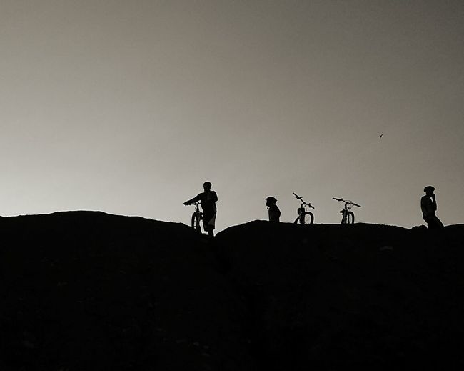 Blackandwhite Photography Silhouette Riding Bike Monochrome Streetphoto_bw