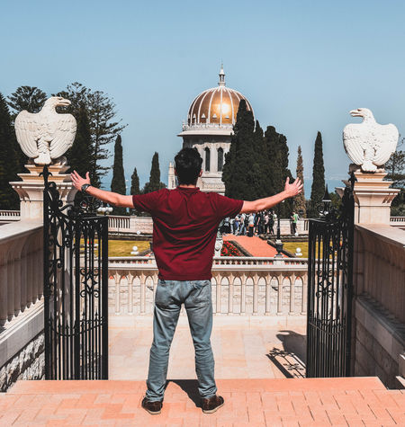 Dome Rear View Full Length People Cityscape Adults Only Outdoors Adult One Person Sky Day Travel Destinations Building Exterior Tourism Old City Israel Jerusalem Tranquility One Man Only Arrival Adult Backgrounds Telaviv City