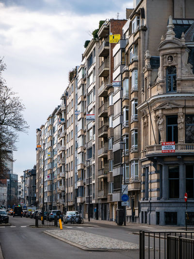 Architecture City Sky Built Structure Day Road Street Building Apartment Cloud - Sky Residential District Outdoors Apartment Buildings Antwerpen Belgium No People Living Architecture