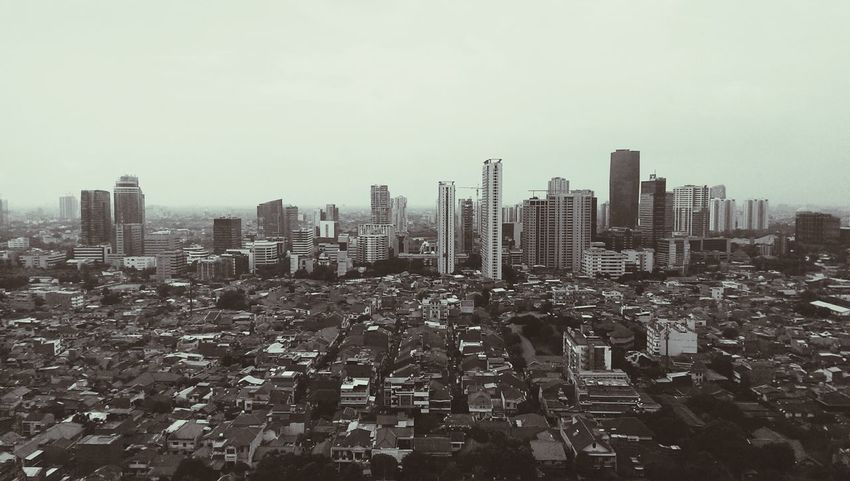 Just another day at the office Jakartaselamanya Jakartaforever Cityscape Monochrome