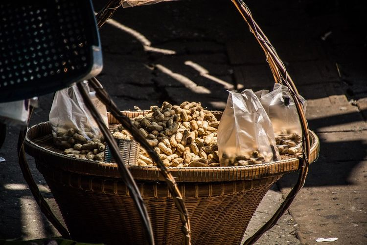 Close-Up of Peanuts In Basket