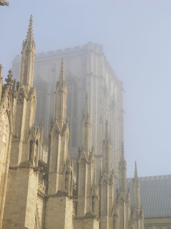 York Minster tower in the fog Architecture Catherdal Church Historic Outdoors Travel York York Minster