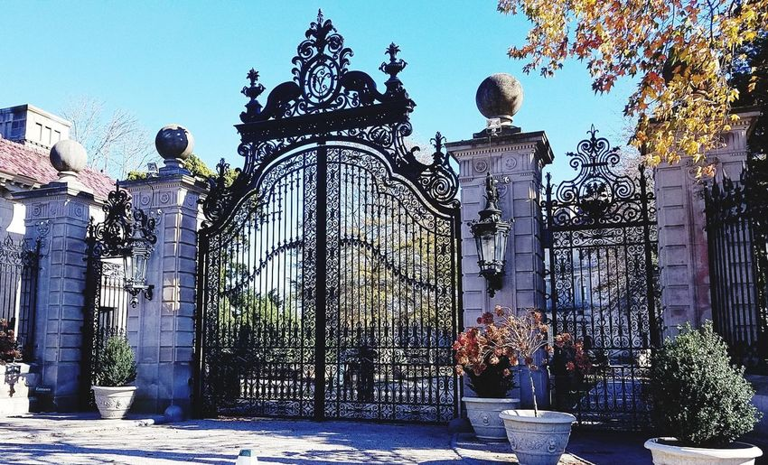 Breakers gate Safety Security Gate Regal Gilded Age Mansion Gate The Breakers Gate Sky Wrought Iron