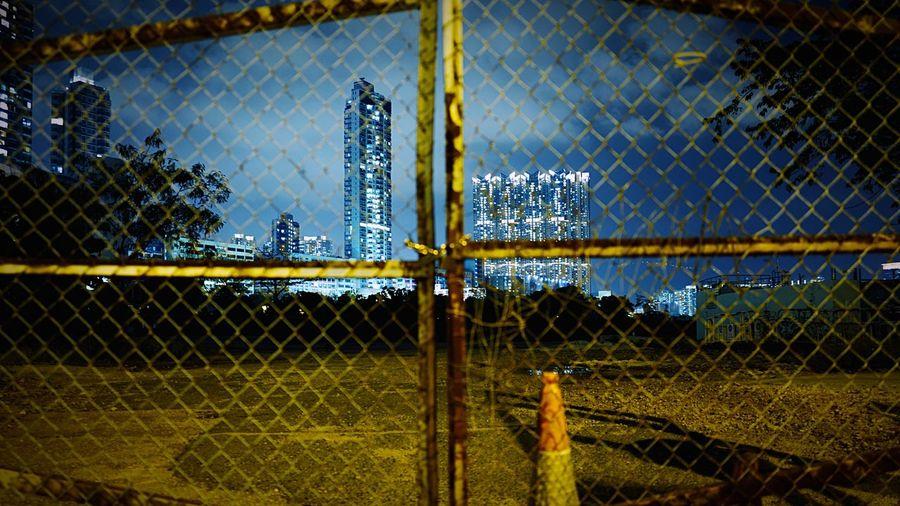 Keep Out HongKong Discoverhongkong Leica Leicaq Nightphotography Streetphotography Night Night View Night Lights Streetphoto_color Fence 香港 夜景 EyeEmbestshots EyeEmBestPics EyeEm Best Shots EyeEmBestEdits Taking Photos