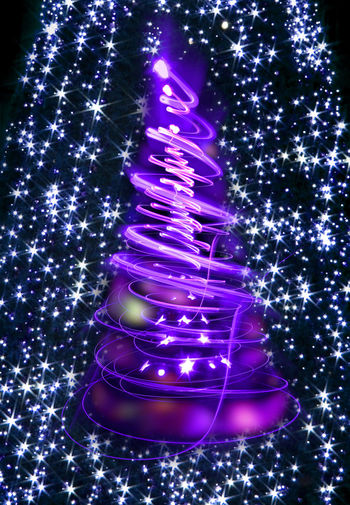 Illuminated christmas tree
