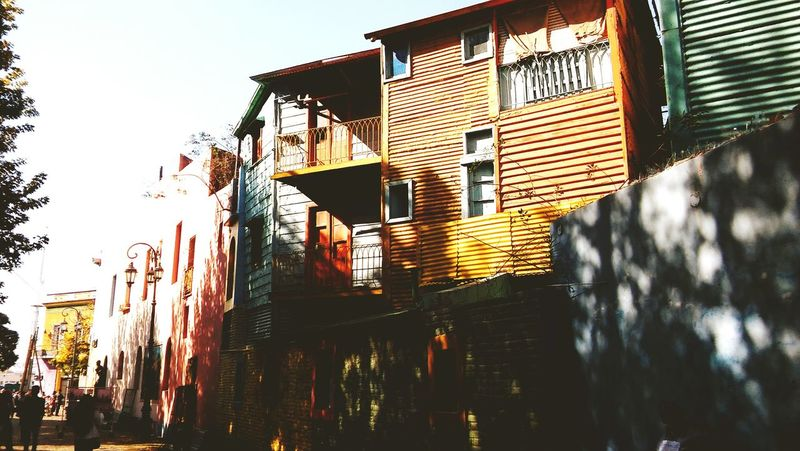 Architecture Building Exterior Built Structure Outdoors Travel Destinations Low Angle View History Art Is Everywhere Multi Colored Front View Travel Pictures Light Buenos Aires Argentina Boca Caminito BsasCity Colors Shadow City Views Window Façade Cityscape City Life Architecture