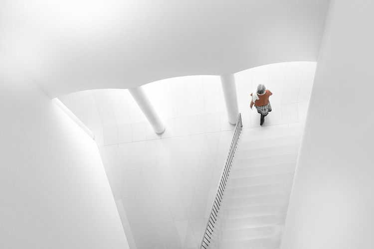 Going down, Frankfurt Going Down Stairs Architecture Minimalism Stairs_collection Steps And Staircases White Background White Color EyeEmNewHere