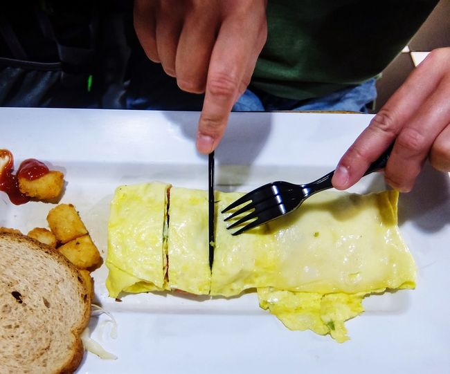 Breakfast Bread Omelette Egg Food And Drink Food One Person Freshness Preparation  Healthy Eating Close-up Ready-to-eat