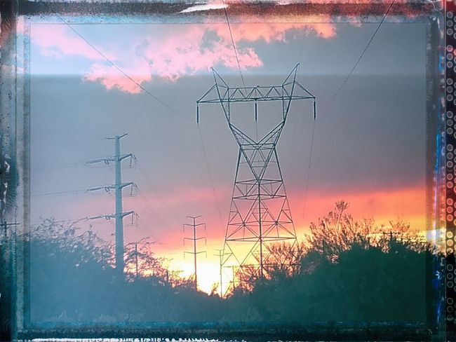 Auto Post Production Filter Beauty In Nature Cable Cloud - Sky Connection Electrical Equipment Electricity  Electricity Pylon Fuel And Power Generation Land Nature No People Orange Color Outdoors Plant Power Line  Power Supply Sky Sunset Technology Tree