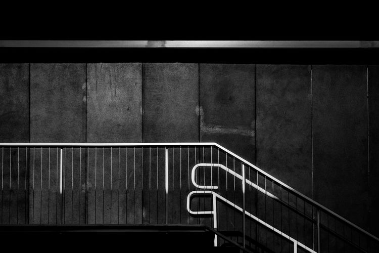 Architecture_collection Stairs & Shadows Architecture Architecture Building Exterior Architecture Photography Architecture_bw Architecturelovers Blackandwhite Blackandwhite Photography Bnw_captures Bnwphotography Built Structure Hand Rail Railing Stairs Geometry Steps And Staircases