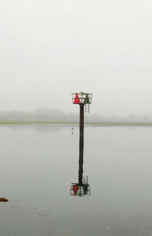 Water Lake Outdoors Day Buoy No People Sky Nature Marine Navigation Unique Perspectives Reflection Reflections California Tranquility Foggy Morning Foggy Landscape Wetlands Wet