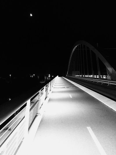 Bridge Light And Shadow Night City Lights