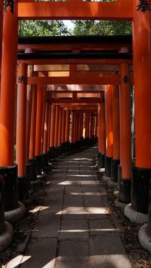 Empty corridor in temple