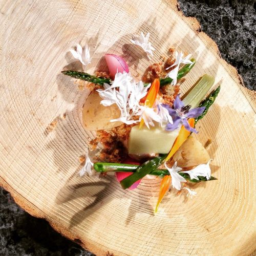 Edible landscapes from Chef Katie Weinner. Spring on a plate. Food Cookingdemo Cooking Tasteofspring