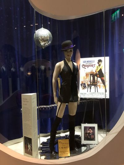 "Liza Minelli's original costume from ""Cabaret"" Ireland Newbridge Hollywood Liza Minelli Human Representation Store Text Shopping Retail Display Mannequin Retail  Clothing Fashion"