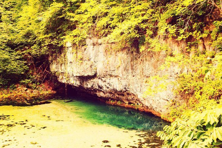 Natural spring. Spring Water