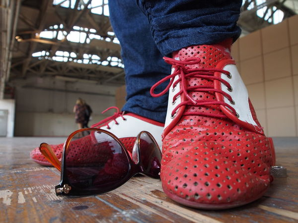 Fashion Red Shoes Body Part Boot Close-up Day Flooring Focus On Foreground Human Body Part Human Foot Human Leg Human Limb Indoors  Jeans Leisure Activity Lifestyles Low Section Oldschool One Person Real People Red Shoe Standing Style And Fashion Unrecognizable Person