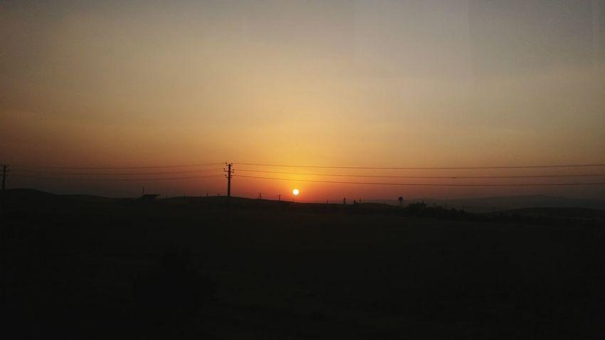 Sunset Landscape Sun Dark Orange Color Beauty In Nature Sky Nature
