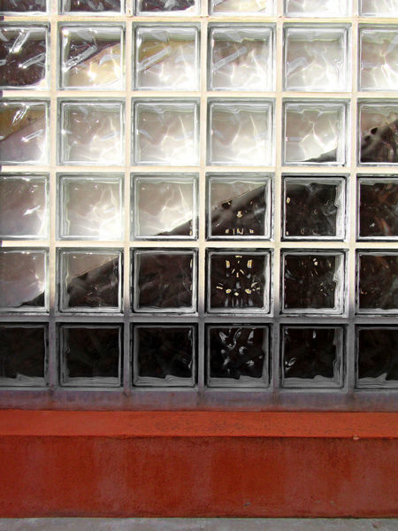 Concrete-framed glass blocks ArchiTexture Concrete-framed Diagonal Red Square Textured  Textures And Surfaces Abstract Black Close-up Concrete Frame Day Glass Blocks Indoors  No People Pattern Transparent White Window