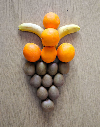 Art Made From Fruits On Table