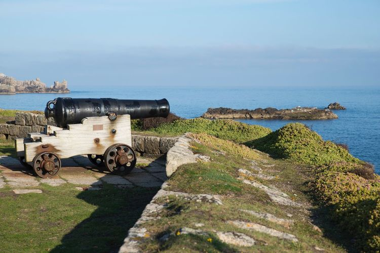 Isles of Scilly cannon Summer Blue Sky Blue Abandoned Military Architecture Castle Cannon Sky Outdoors Sea Sea And Sky