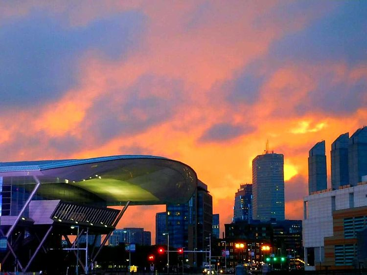 Boston Convention Center Illuminated Urban Skyline Cityscape Sky City Architecture Sunset Skyscraper Building Exterior No People Cloud - Sky Outdoors Night