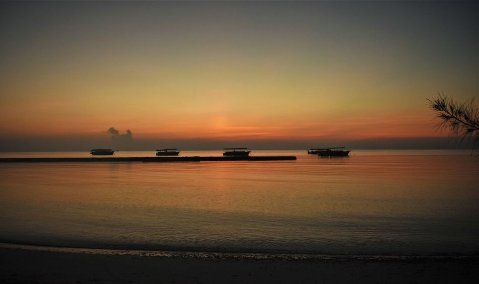 Summer Islands Abendstimmung Am Meer Beauty In Nature Boote Cruise Ship Horizon Horizon Over Water Idyllic Malediven  Mode Of Transportation Nature Nautical Vessel No People Orange Color Outdoors Scenics - Nature Sea Ship Silhouette Sky Sunset Tranquil Scene Tranquility Transportation Water