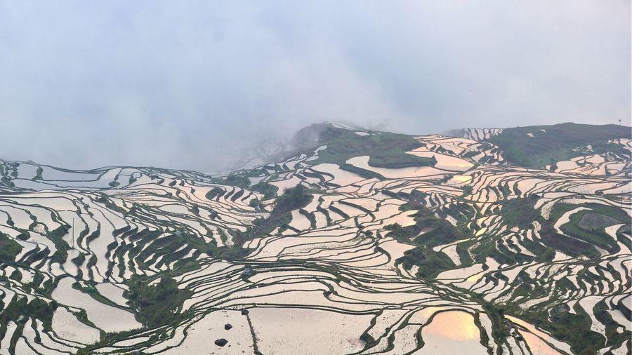 terrace yuanyang Rural Scene Agriculture Pattern Sky Landscape