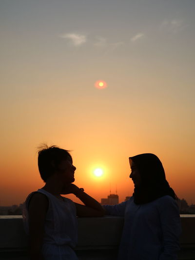 Interreligious Friendship Indonesian Photographers Collection Indonesian Women Religious  Tolerance Hijab Christian-islam Friendship Sunset Togetherness Happiness Bonding Women EyeEmNewHere