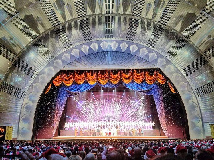 Illuminated Indoors  Ceiling Audience Crowd Multi Colored Arts Culture And Entertainment Large Group Of People