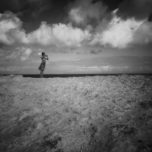 Photographer at Pointes des Châteaux, Guadeloupe IPhoneography Cloud - Sky Sky Scenics - Nature Land Beauty In Nature Horizon