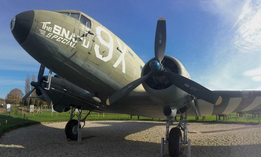 C-47 Skytrain, batterie de Mereville museum, Normandy landing, France. France Normandy Douglas
