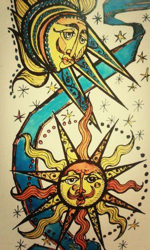 The moon and the sun by Nikos Gialouris