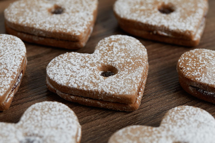 Close up of freshly baked homemade Christmas sugar cookies with jam Food Food And Drink Freshness Baked Indoors  Close-up Sweet Food No People Studio Shot Sugar Group Of Objects Indulgence Selective Focus Still Life High Angle View Sweet Choice Variation Bread Large Group Of Objects Powdered Sugar Temptation Homemade Freshness Jam Freshly Baked Freshly Cookies Cookie